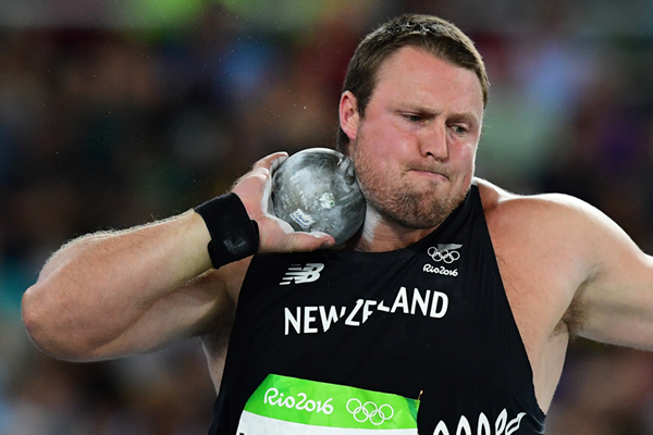 Tom Walsh in the shot put at the Rio 2016 Olympic Games (AFP / Getty Images)