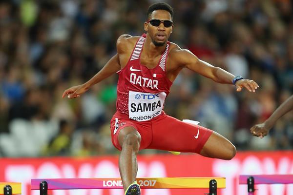 Abderrahman Samba in the 400m hurdles at the IAAF World Championships London 2017 (Getty Images)