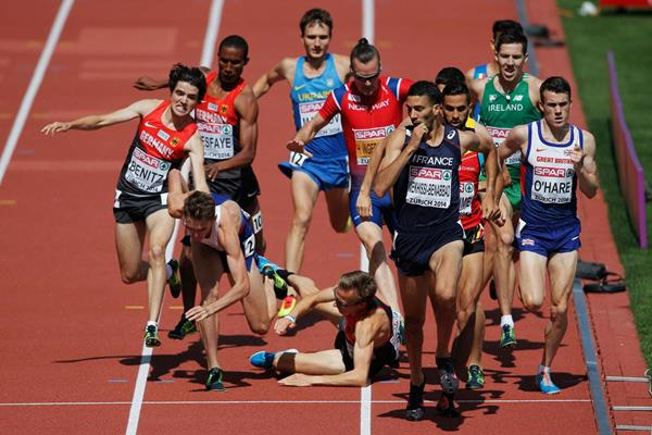 Mahiedine Mekhissi-Benabbad on his way to gold in the 1500m at the European Championships (Getty Images)