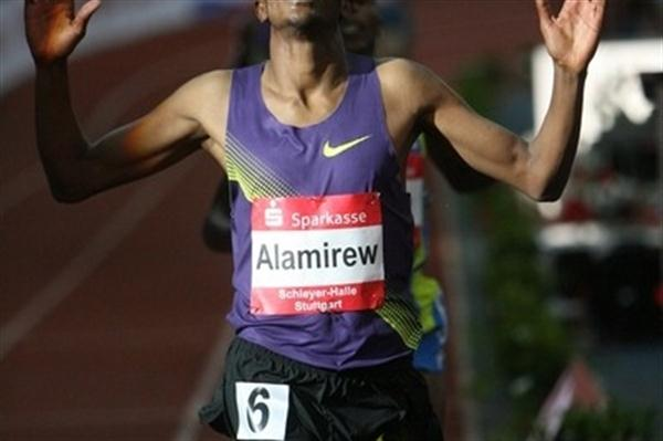 Yenew Alamirew wins the 3000m in Stuttgart (organisers)
