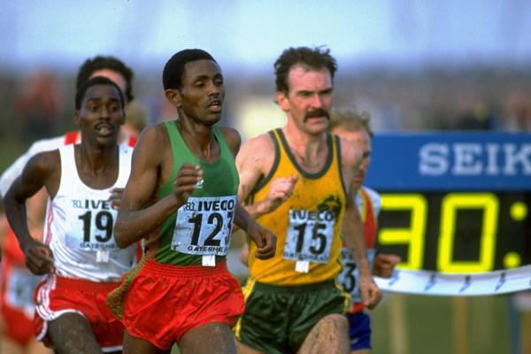 Bekele Debele at the 1983 World Cross Country Championships (Getty Images)