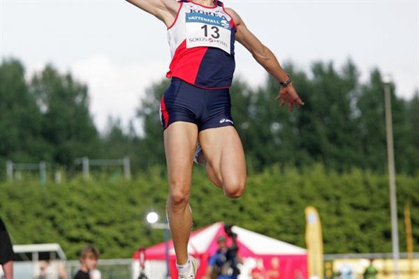 8.07m leap by Korea´s Kim Duk-Hyeon in Espoo (Paula Noronen)