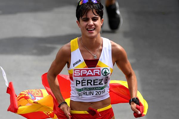 Maria Perez wins the 20km race walk at the European Championships (Getty Images)