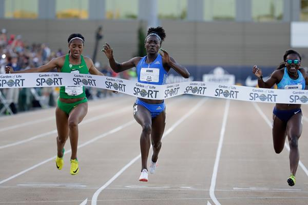 Tori Bowie takes the US 100m title in Sacramento (Getty Images)