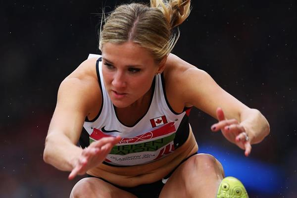 Heptathlon winner Brianne Theisen Eaton at the Commonwealth Games (Getty Images)