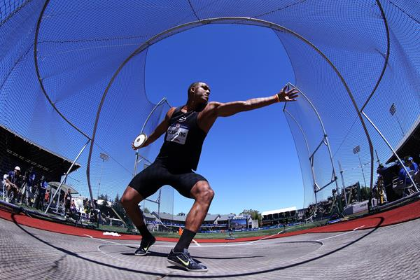 Garrett Scantling in the decathlon discus at the 2016 US Olympic Trials (Getty Images)