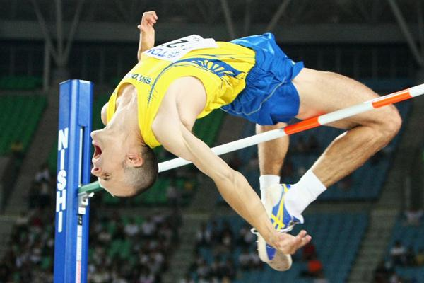 Stefan Holm of Sweden in action in the Men's High Jump Final (Bongarts/Getty Images)