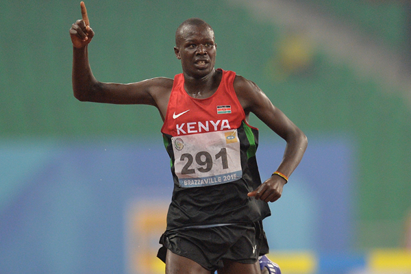 Clement Kemboi wins the 3000m steeplechase at the All-Africa Games (AFP / Getty Images)
