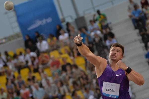 David Storl, winner of the shot at the 2015 IAAF Diamond League meeting in Doha (DECA Text & Bild)