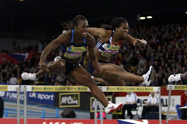 Danielle Carruthers (USA) on her way to victory in Glasgow (Getty Images)