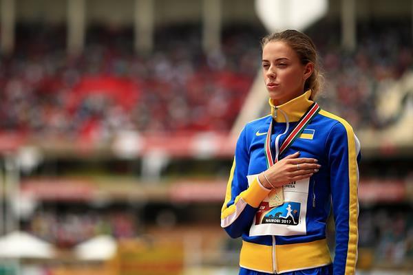 Yaroslava Mahuchikh with her high jump gold medal at the IAAF World U18 Championships Nairobi 2017 (Getty Images)
