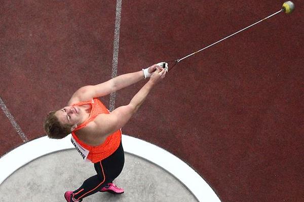 Anita Wlodarczyk in the hammer in Ostrava (Organisers / Luděk Šipla / sport-pics.cz)