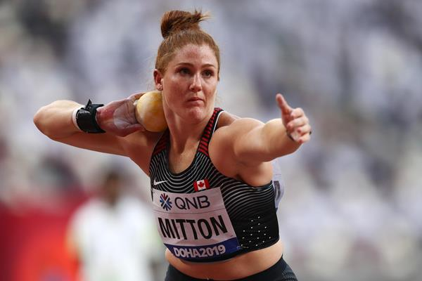 Canadian shot putter Sarah Mitton (Getty Images)