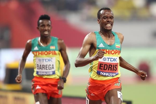 1-2 in the 5000m at the IAAF World Championships Doha 2019: Muktar Edris (r) and Selemon Barega (Getty Images)
