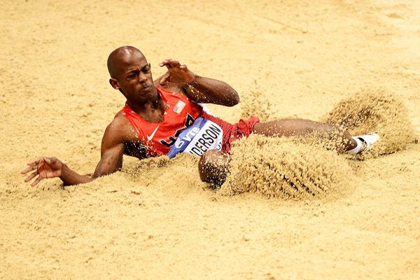 USA's Jeffery Henderson in the long jump (Getty Images)
