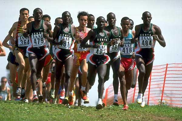 Ismael Kirui running in the 1998 World Cross Country Champs (Getty Images)