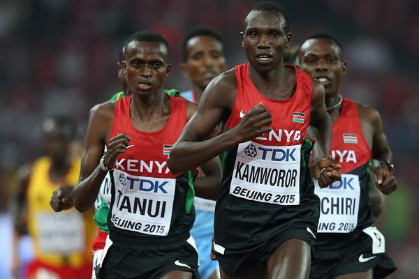 Geoffrey Kamworor in the 10,000m at the IAAF World Championships, Beijing 2015 (Getty Images)