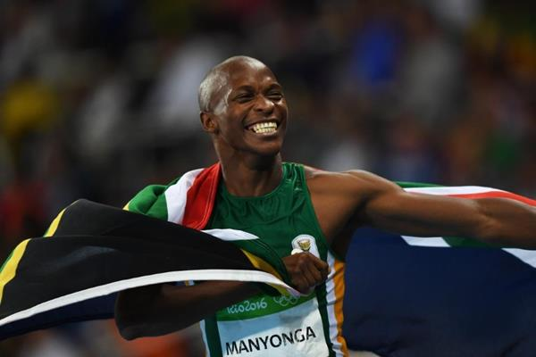 Luvo Manyonga after taking silver in the long jump at the Rio 2016 Olympic Games (Getty Images)