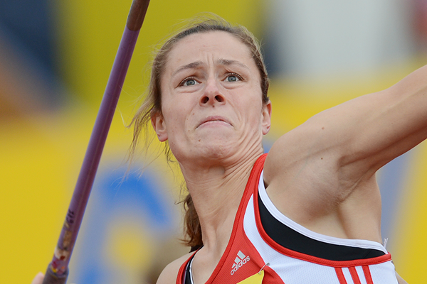 Germany's Katharina Molitor in action in the javelin (Getty Images)