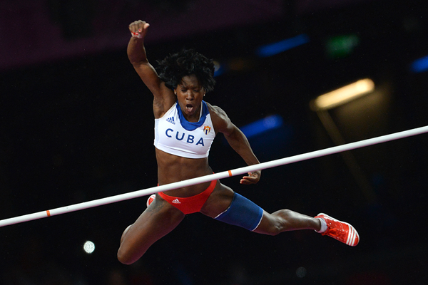 Yarisley Silva in the pole vault at the London 2012 Olympic Games (AFP / Getty Images)