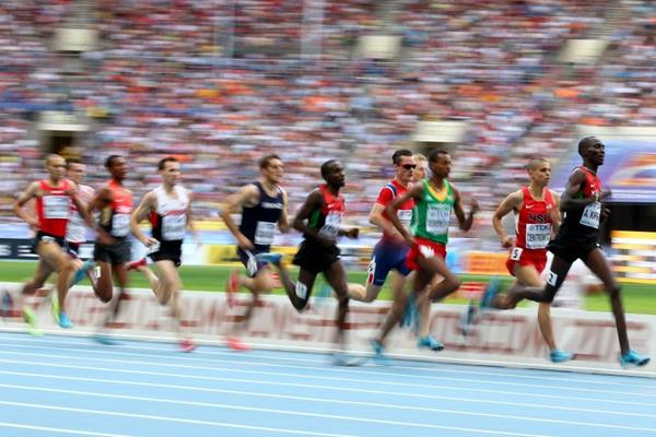 Asbel Kiprop in the mens 1500m Final at the IAAF World Athletics Championships Moscow 2013 (Getty Images)