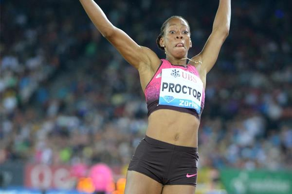 Long Jump winner Shara Proctor at the 2013 IAAF Diamond League meeting in Zurich (Jiro Mochizuki)