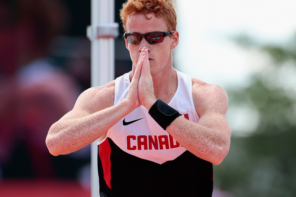 Pole vault winner Shawn Barber at the Pan American Games (Getty Images)