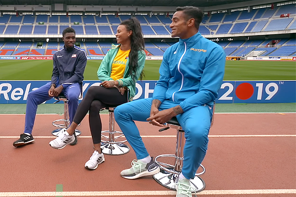 Noah Lyles, Morgan Mitchell and Andrew Howe on World Athletics Club (IAAF)