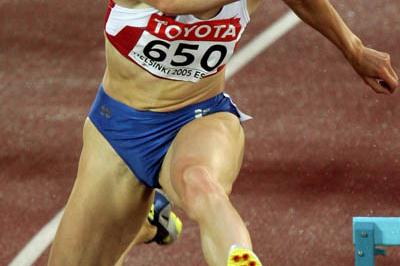 Yulia Pechonkina of Russia in the 400m Hurdles semi-final (Getty Images)