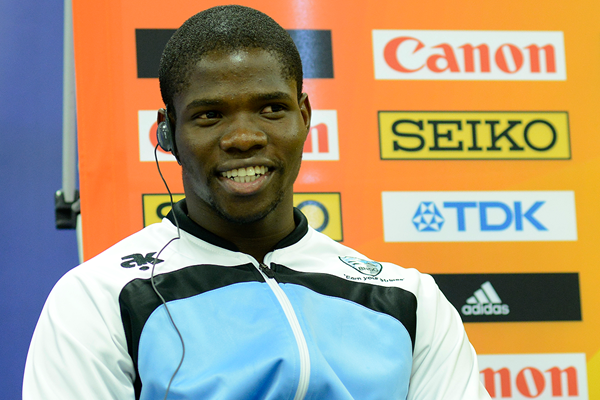 Baboloki Thebe at the press conference for the IAAF World U20 Championships Bydgoszcz 2016 (Getty Images)