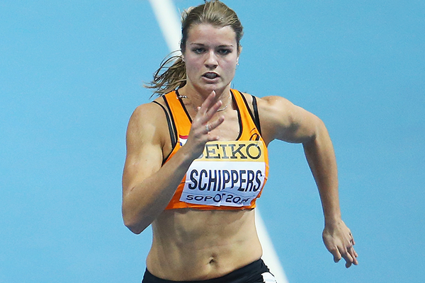 Dafne Schippers in action in the 60m (Getty Images)
