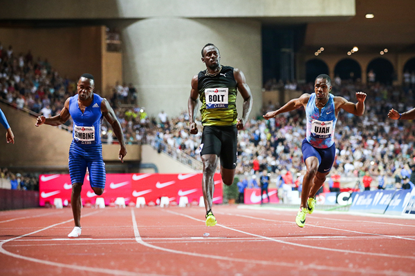 Usain Bolt wins the 100m at the IAAF Diamond League meeting in Monaco (Philippe Fitte)