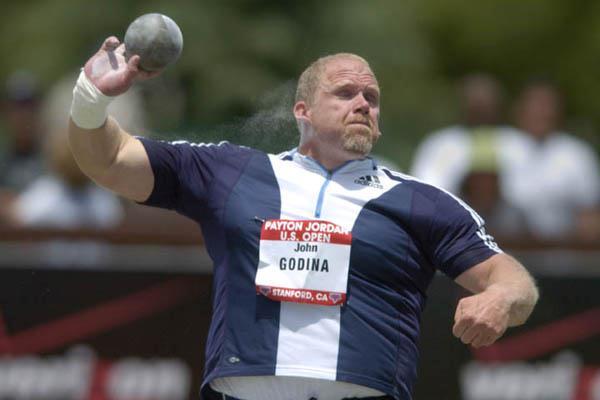 John Godina (USA) wins Shot Put at US Open (Kirby Lee)