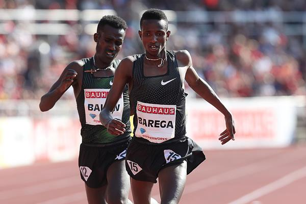 Selemon Barega kicks to a 5000m victory in Stockholm (Giancarlo Colombo)