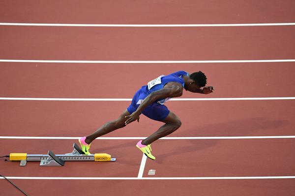 Fred Kerley at the 2017 World Championships (Getty Images)