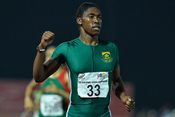 Caster Semenya wins the 1500m at the African Championships (Roger Sedres)