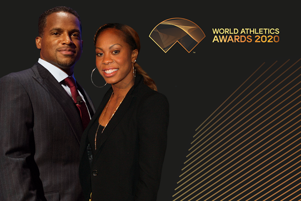 Ato Boldon and Sanya Richards-Ross (Getty Images)