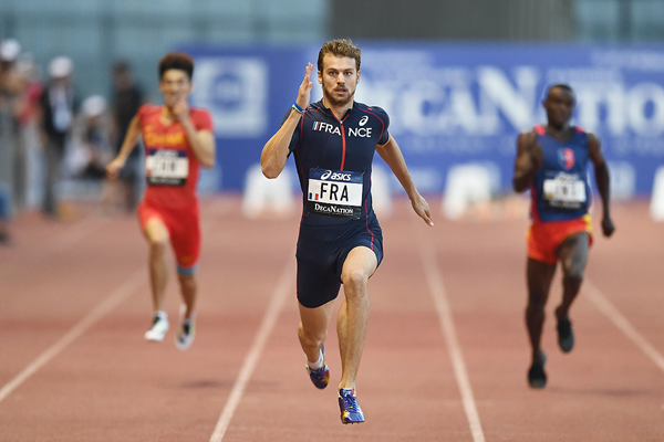 Christophe Lemaitre wins the 200m at the DecaNation meeting in Marseille (AFP / Getty Images)