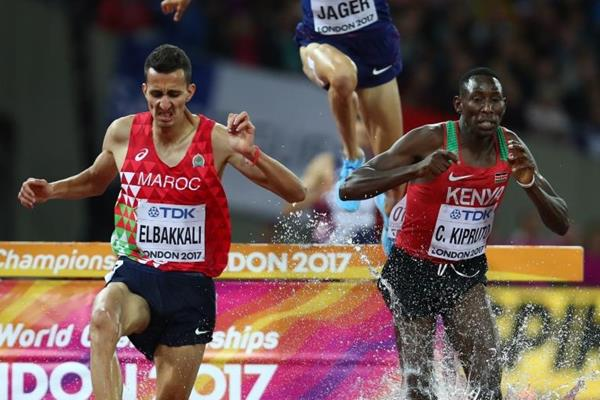 Conseslus Kipruto leads the steeplechase at the IAAF World Championships London 2017 (Getty Images)