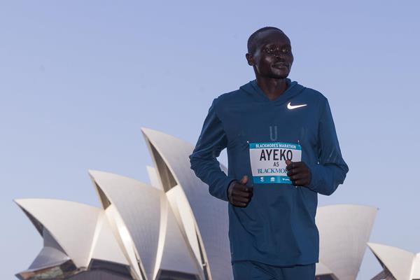 Thomas Ayeko ahead of the Sydney Marathon (organisers)