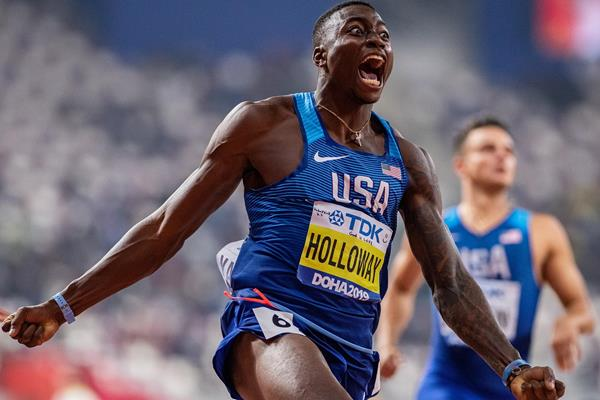 Grant Holloway powers to 110m hurdles gold at the IAAF World Championships Doha 2019 (Getty Images)