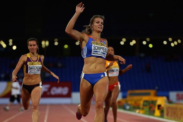 Dafne Schippers wins the women's 200m at the IAAF Continental Cup, Marrakech 2014 (Getty Images)