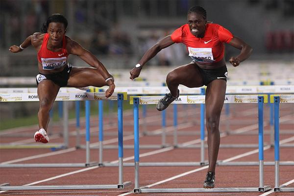 Dawn Harper takes the 100m Hurdles in Rome (Giancarlo Colombo)