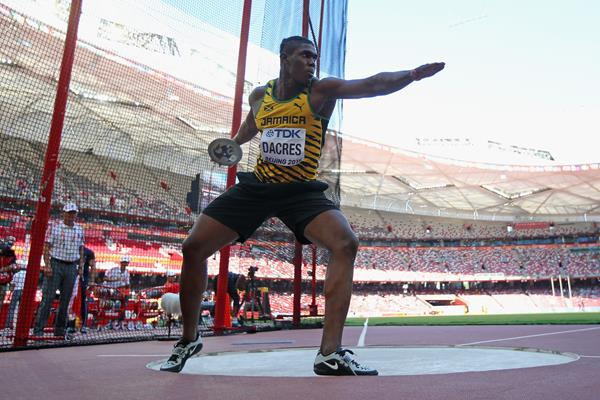 Fedrick Dacres in the discus qualification at the IAAF World Championships, Beijing 2015 (Getty Images)