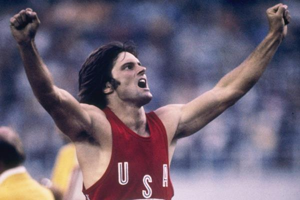 Bruce Jenner wins the 1976 Olympic decathlon title (Getty Images)