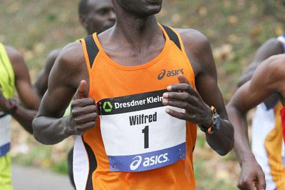 Wifred Kigen en route to his third Frankfurt victory (Victah Sailer)