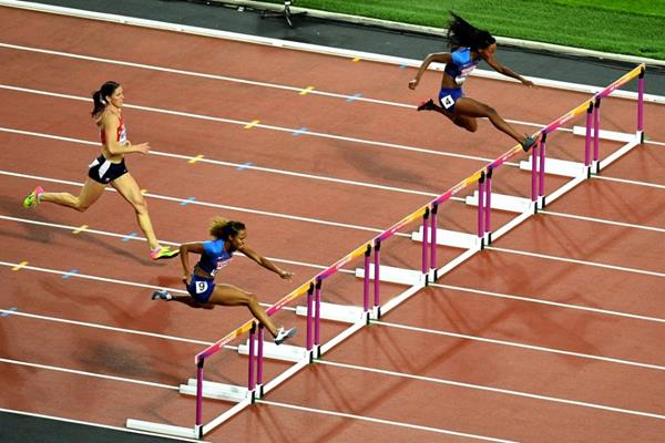 The homestretch of the women's 400m hurdles final at the IAAF World Championships London 2017 (Getty Images)