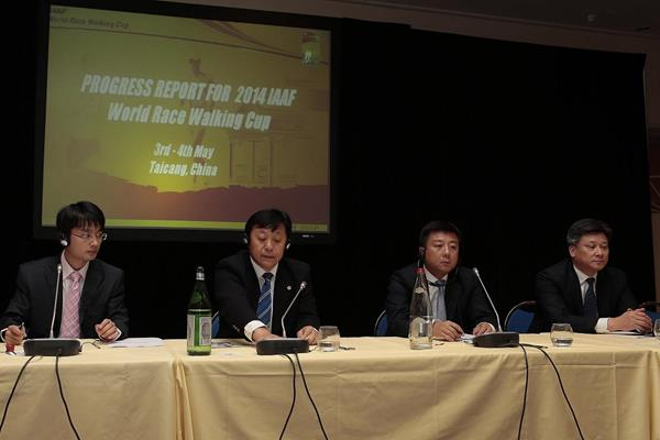 IAAF World Race Walking Cup Taicang 2014 delegation present their progress report (Giancarlo Colombo)
