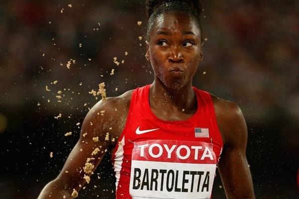 USA's Tianna Bartoletta in the long jump final at the IAAF World Championships, Beijing 2015 (Getty Images)
