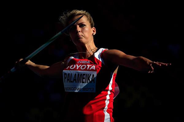Madara Palameika in the javelin at the IAAF World Championships Moscow 2013 (Getty Images)